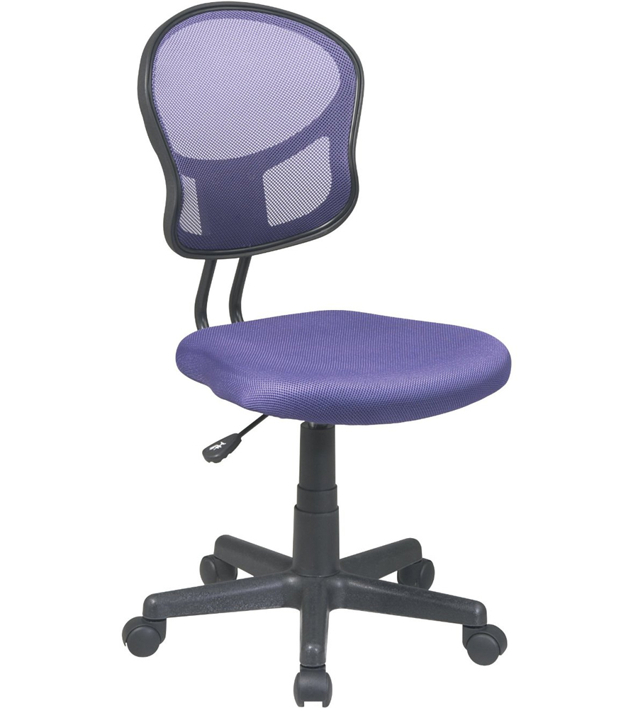 Mesh rolling computer chair in armless office chairs for Armless office chairs