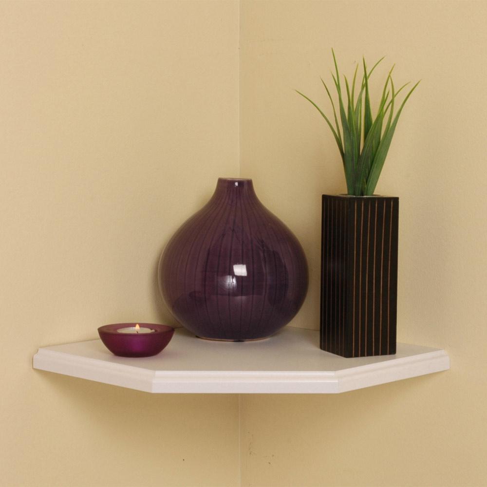... Shelving > Wall Mounted Shelves > 12 Inch Floating Corner Shelf