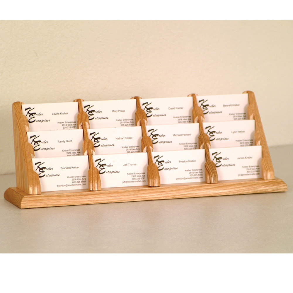 Business card display 12 pocket in desk accessories for Business card display frame