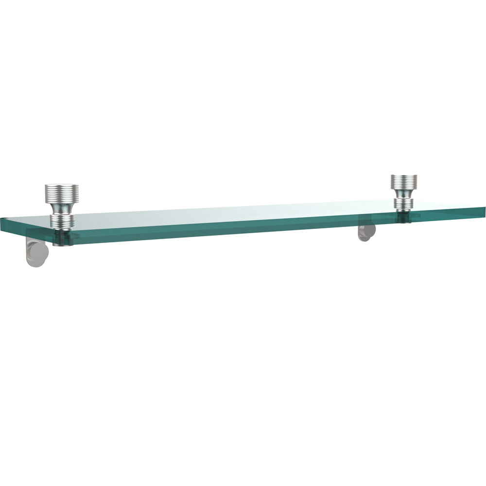 16 Inch Floating Glass Shelf - Foxtrot in Wall Mounted Shelves