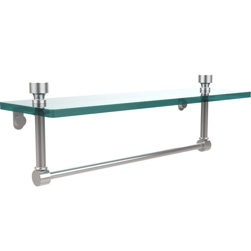 16 Inch Glass Shelf With Towel Bar Foxtrot In Wall Towel