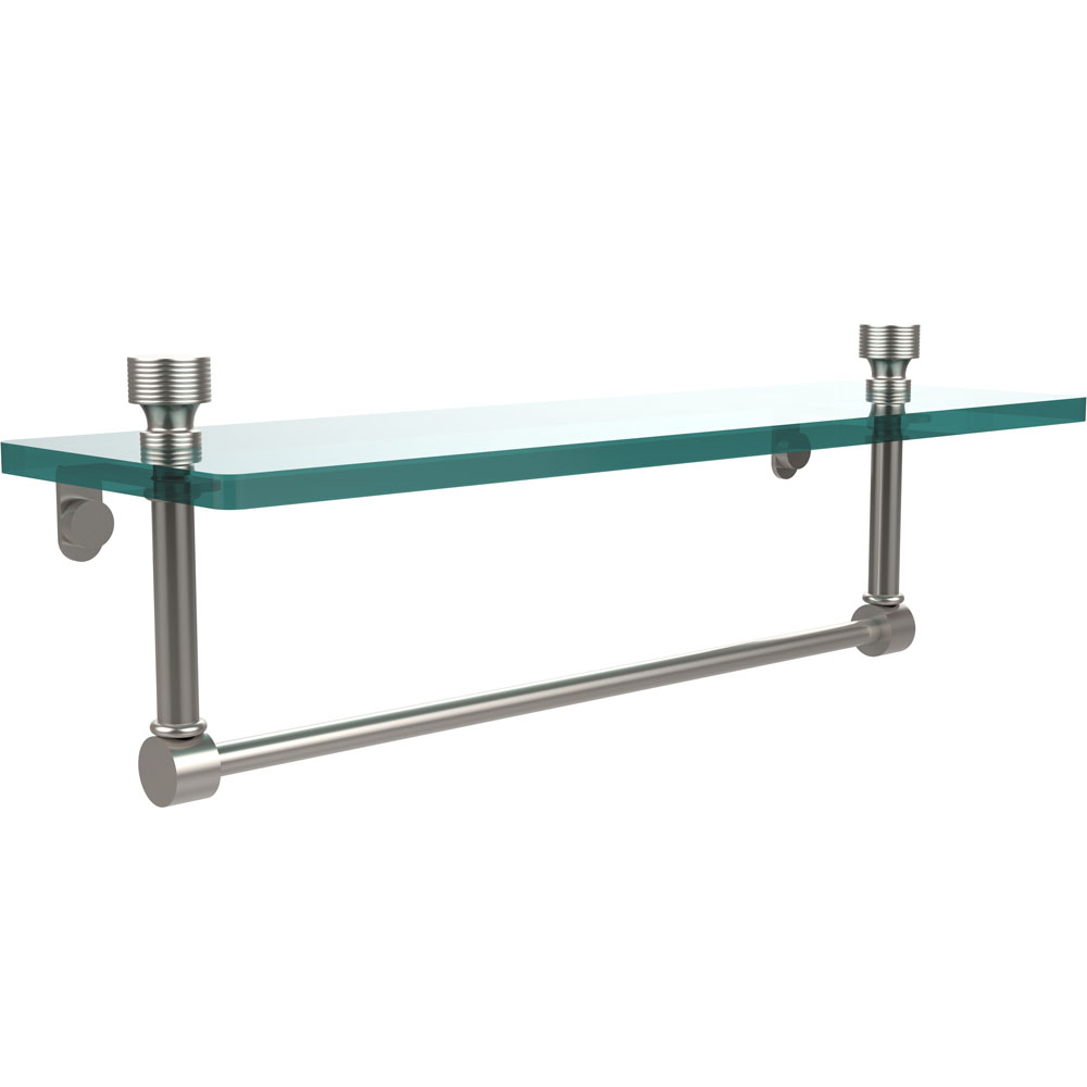 16 Inch Glass Shelf With Towel Bar Foxtrot In Wall Towel Racks