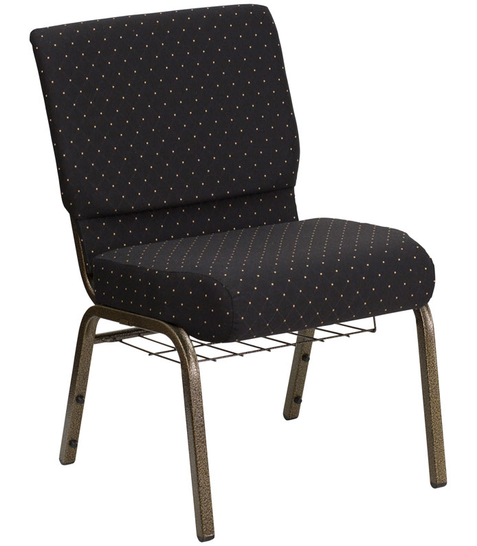 21 Inch Extra Wide Fabric Church Chair In Waiting Room Chairs