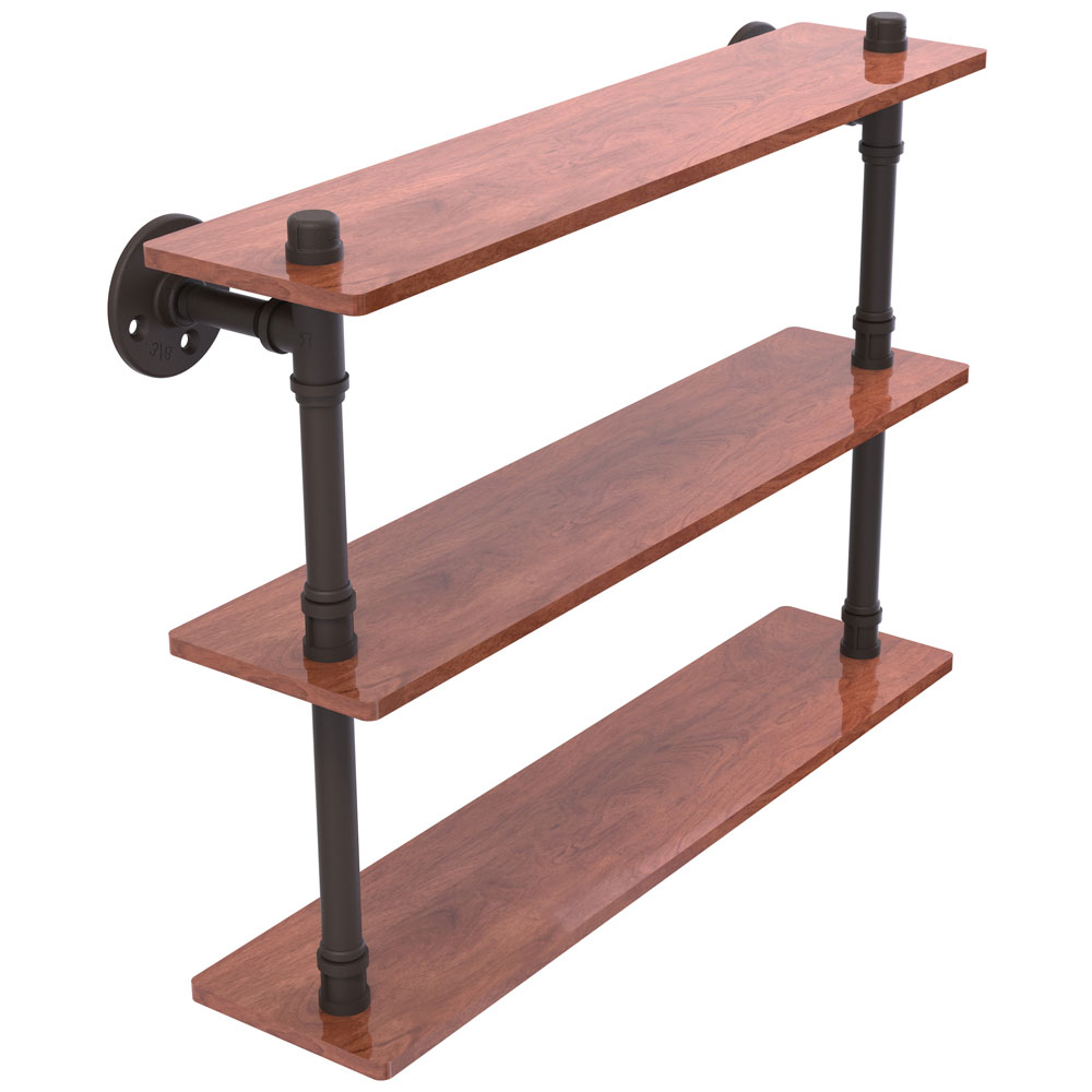 22 Inch Pipeline 3-Tier Bathroom Shelf in Bathroom Shelves