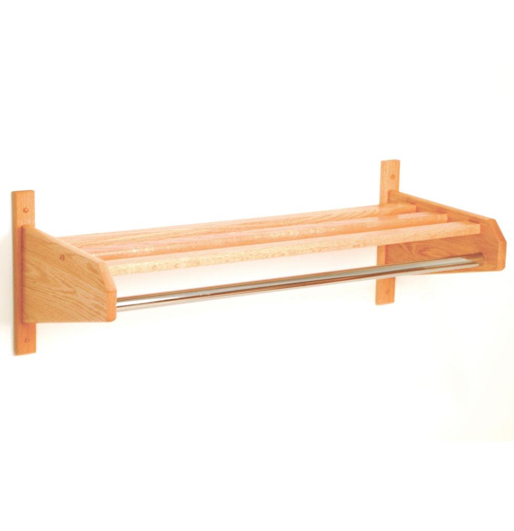 wall mounted coat rack 24 inch in wall coat racks. Black Bedroom Furniture Sets. Home Design Ideas