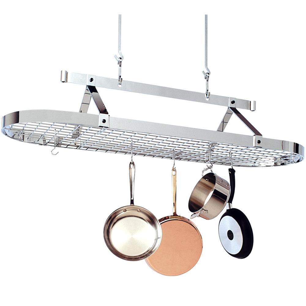 5 foot oval hanging pot rack in hanging pot racks