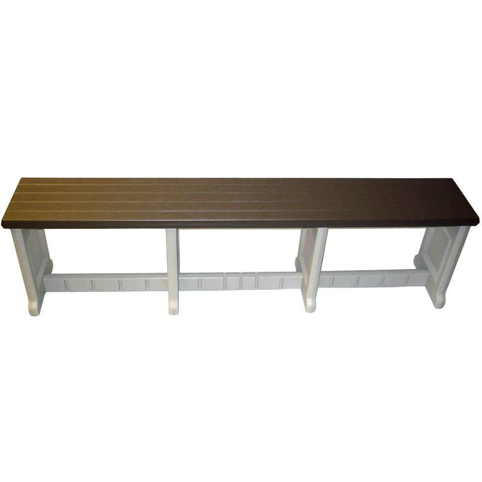 74 inch plastic patio bench in outdoor benches for Outdoor plastic bench seats