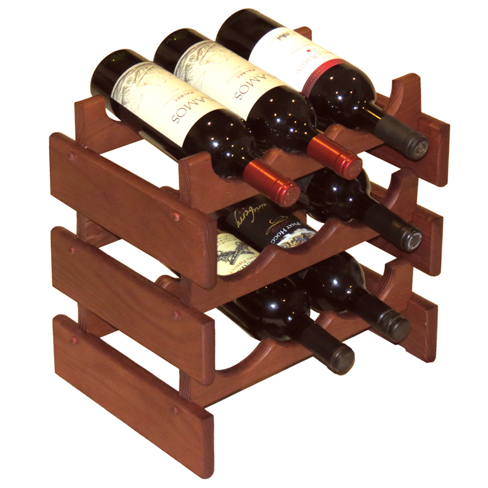 Wood Wine Rack 9 Bottle In Wine Racks