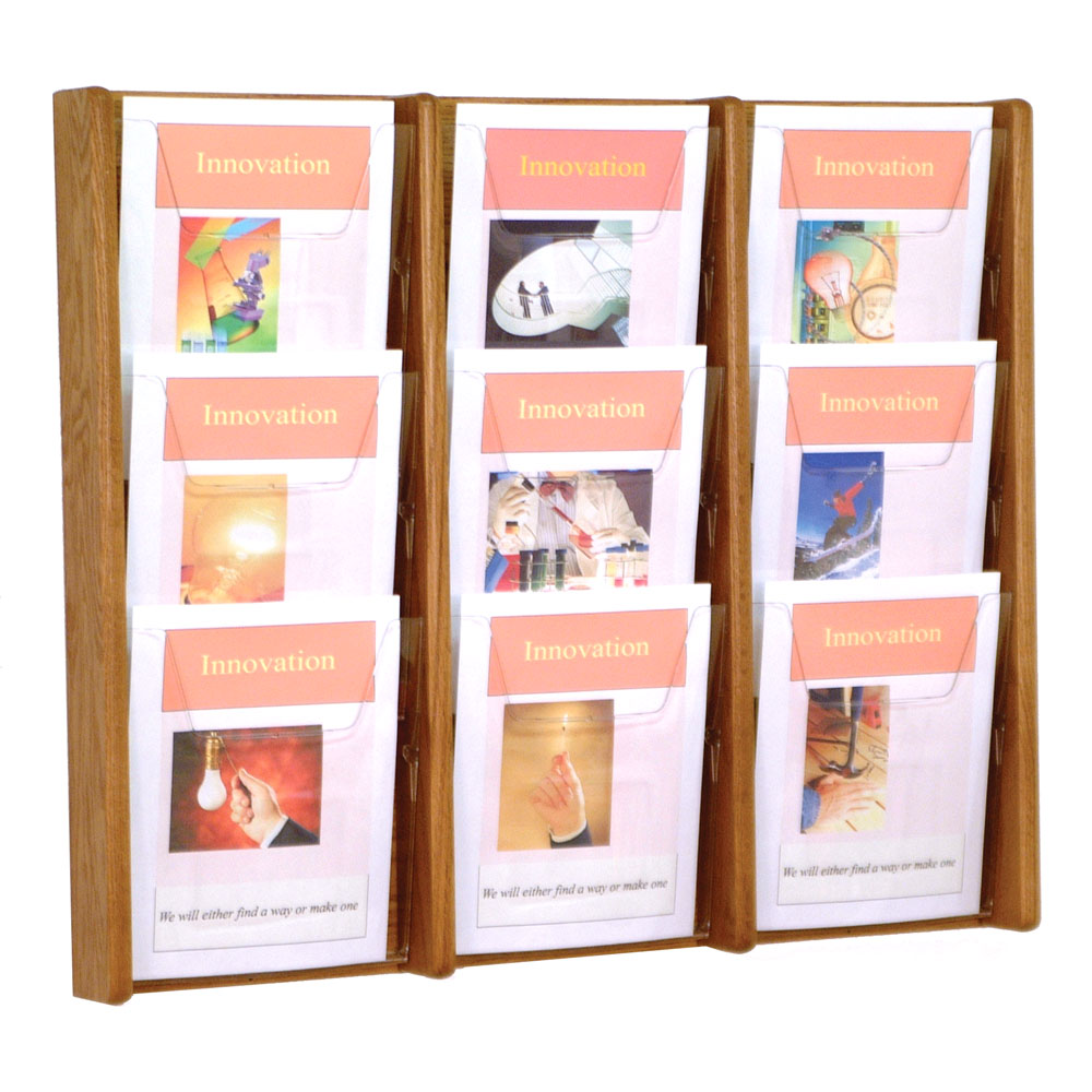 wall magazine rack 9 pocket image click any image to view in high resolution - Wall Magazine Rack