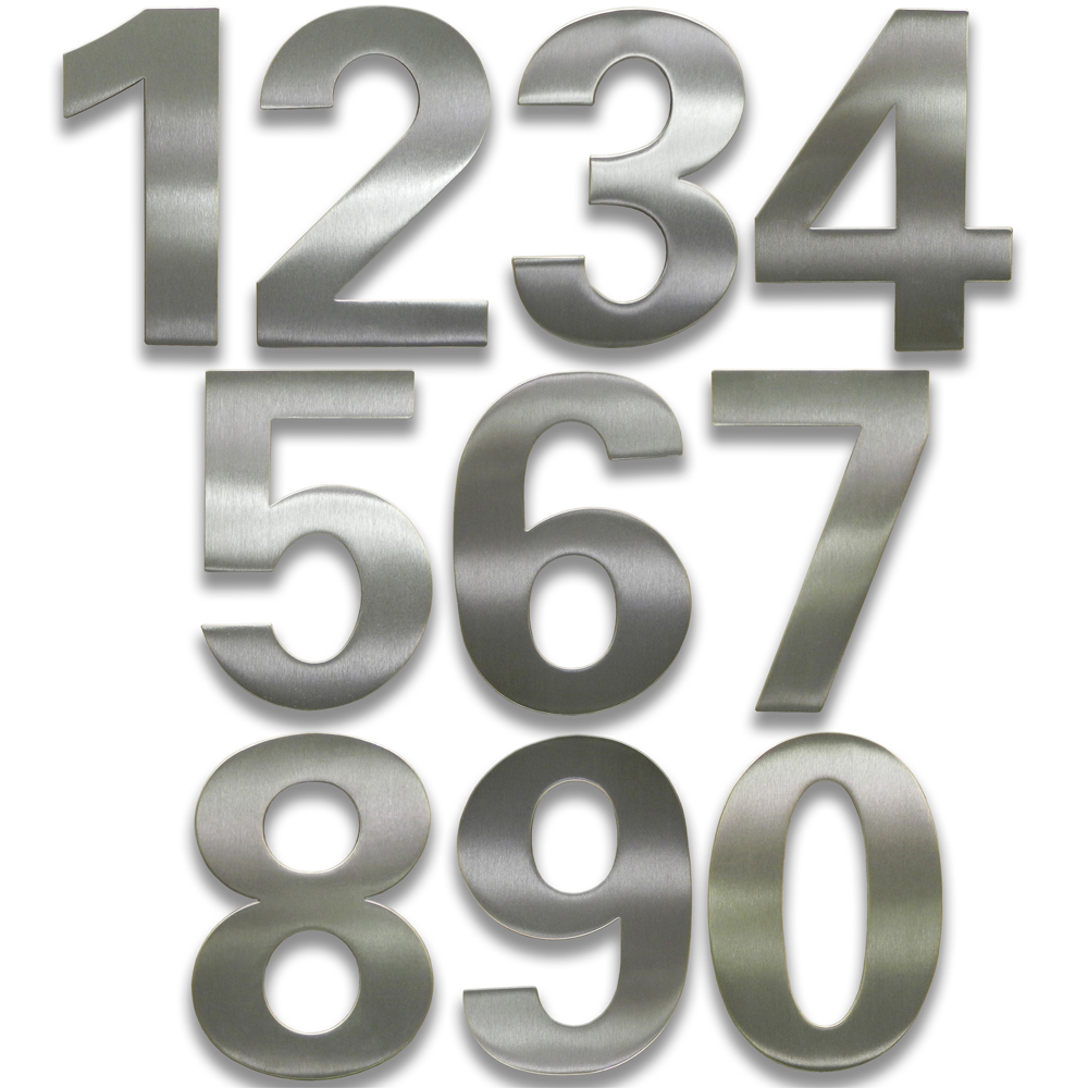 Adhesive house numbers bold in house numbers for House numbers