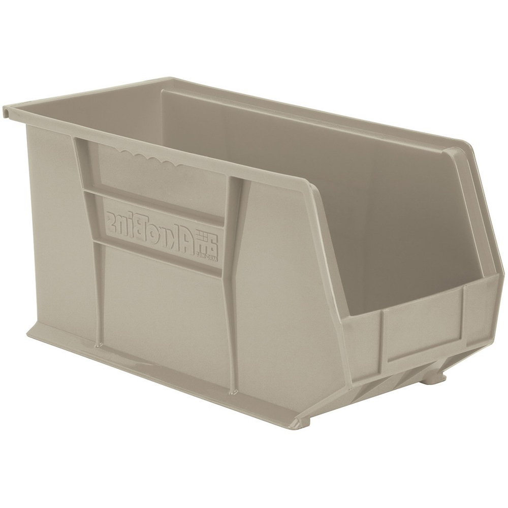 Akro mils stackable bins in plastic storage bins for Best storage bins for garage