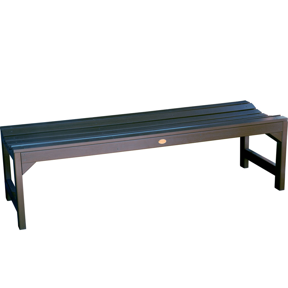 Backless Garden Bench In Outdoor Benches