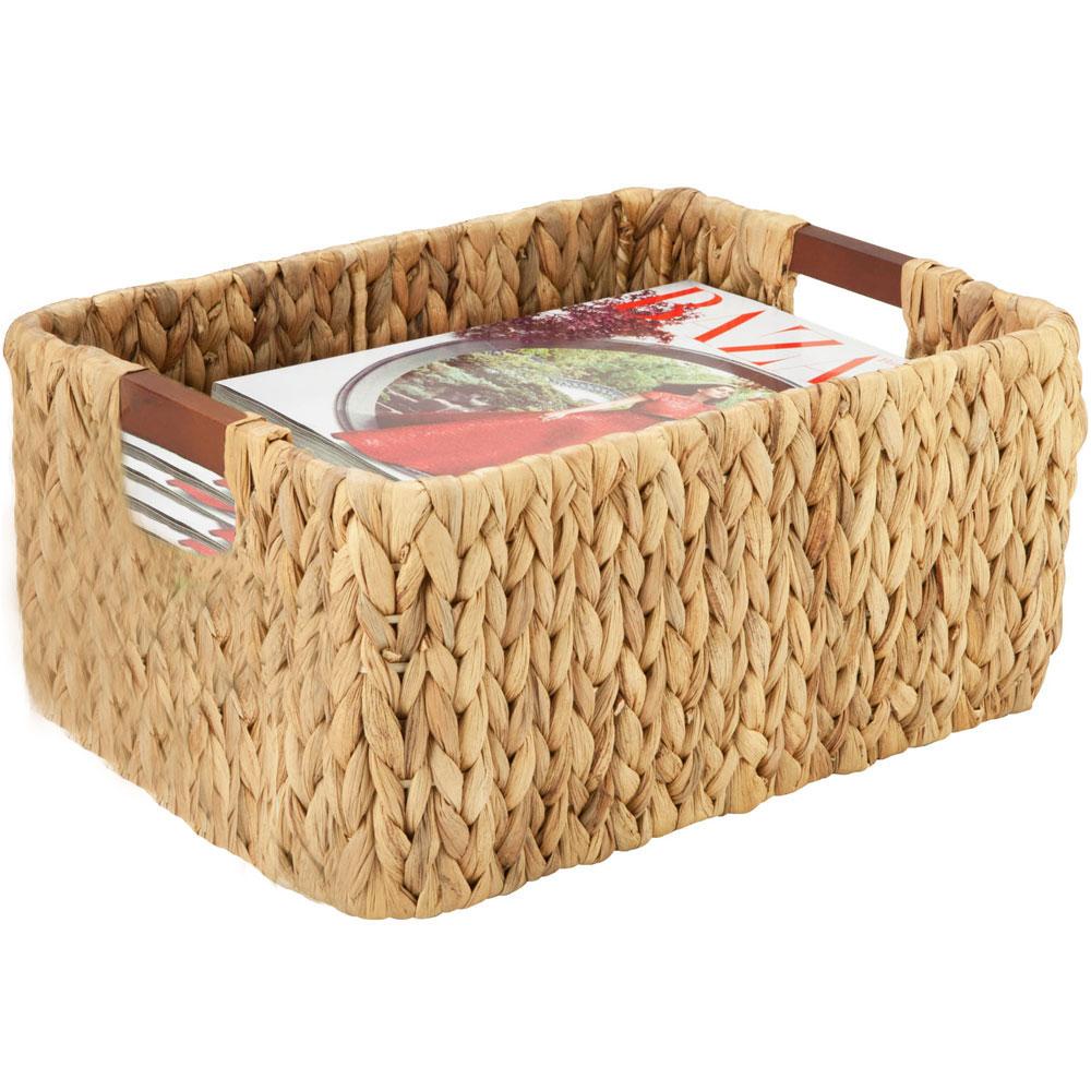 Banana leaf storage basket in wicker baskets