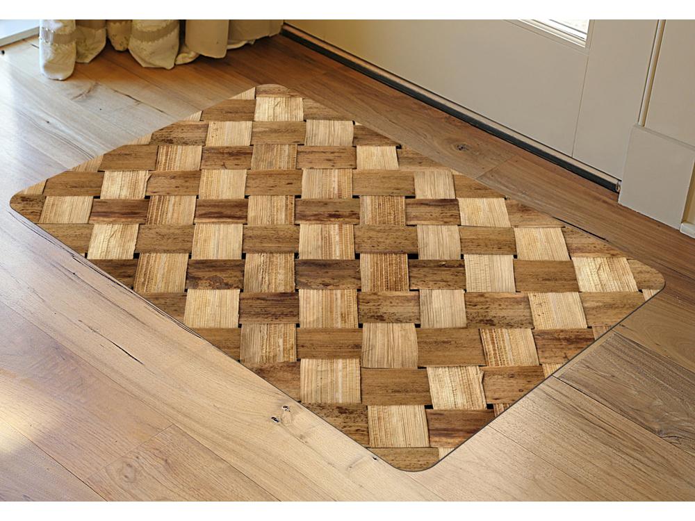 Basket Weave Mat In Patterned Rugs