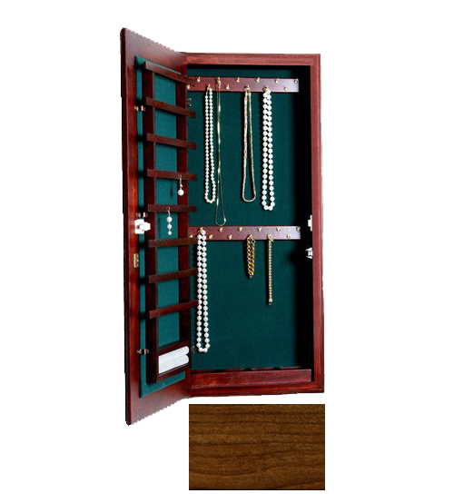 Small Wall Mounted Jewelry Cabinet - Magnetic Lock in Jewelry Cabinets