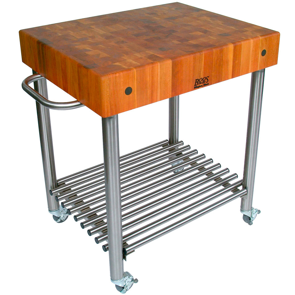 Butcher Block Kitchen Cart In Kitchen Island Carts