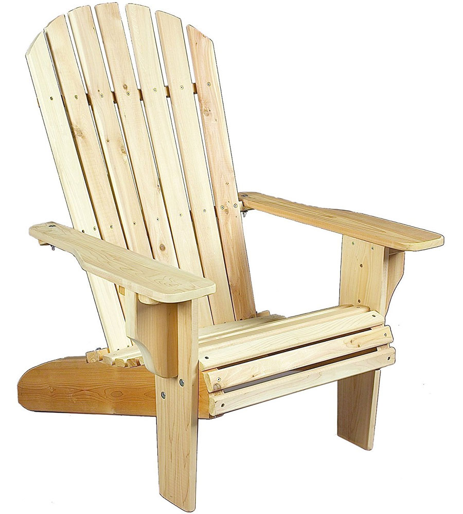 Oversize Adirondack Chair Or Ottoman   Cedar Image