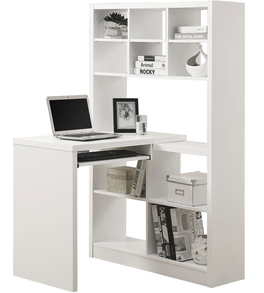 White Desk With Bookshelf 28 Images Custom White Desk