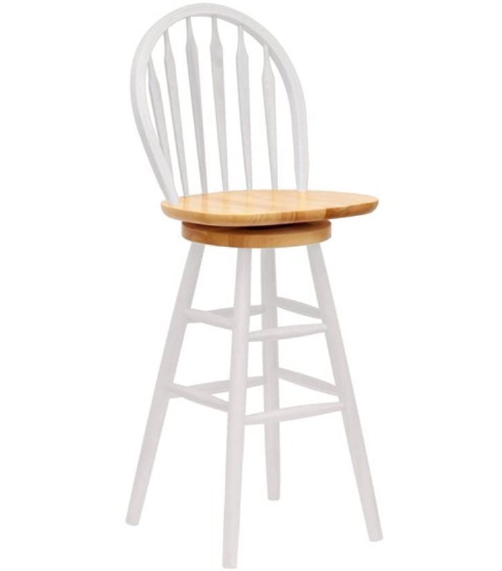 Farmhouse Swivel Bar Stool in Wood Bar Stools
