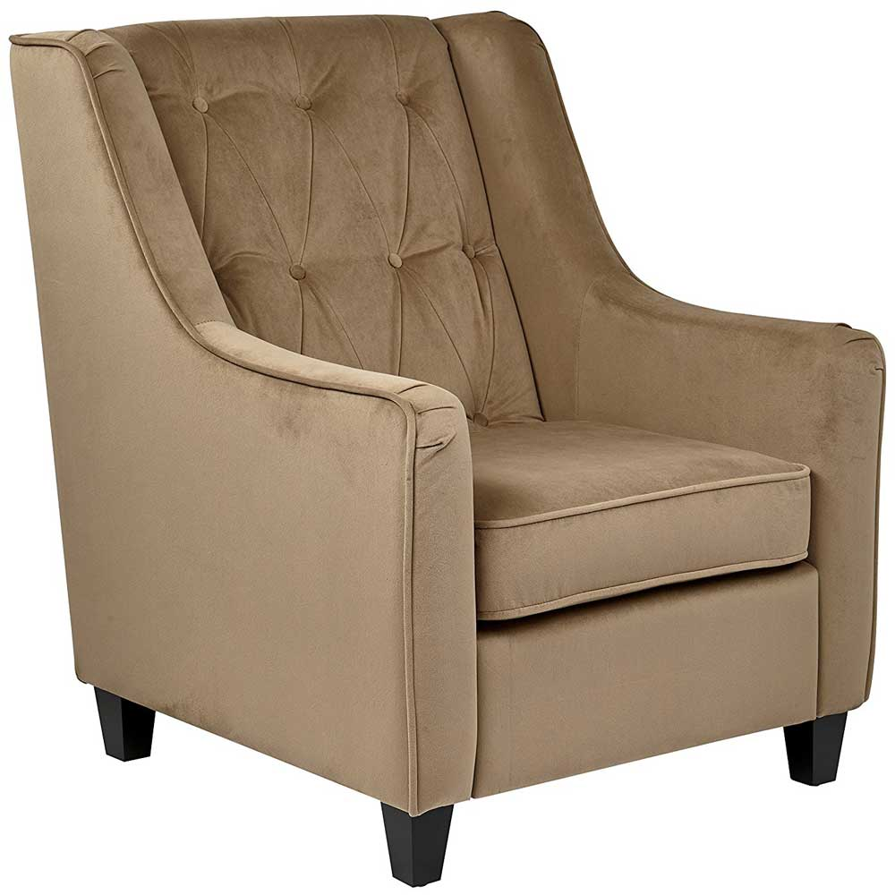 Curves Tufted Accent Chair In Accent Chairs