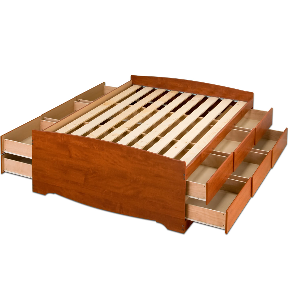 Permalink to easy to build platform bed with storage