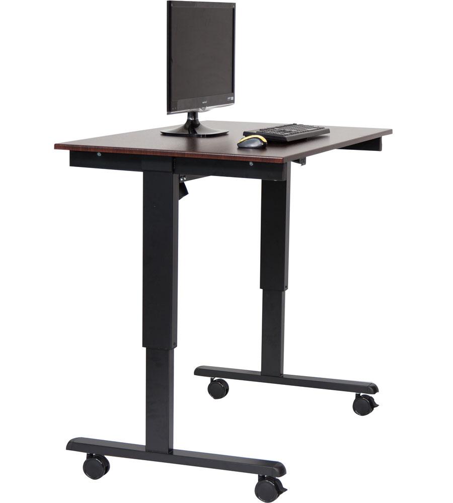 electric standing desk in desks and hutches. Black Bedroom Furniture Sets. Home Design Ideas