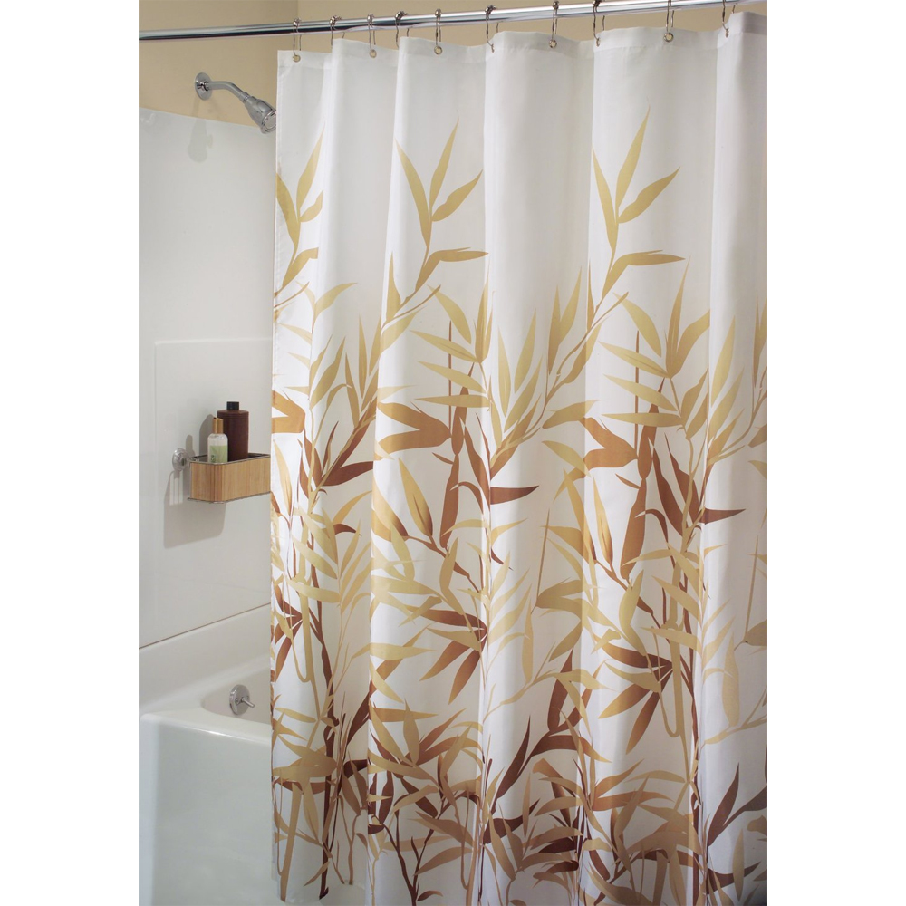 fabric shower curtain anzu in shower curtains and rings