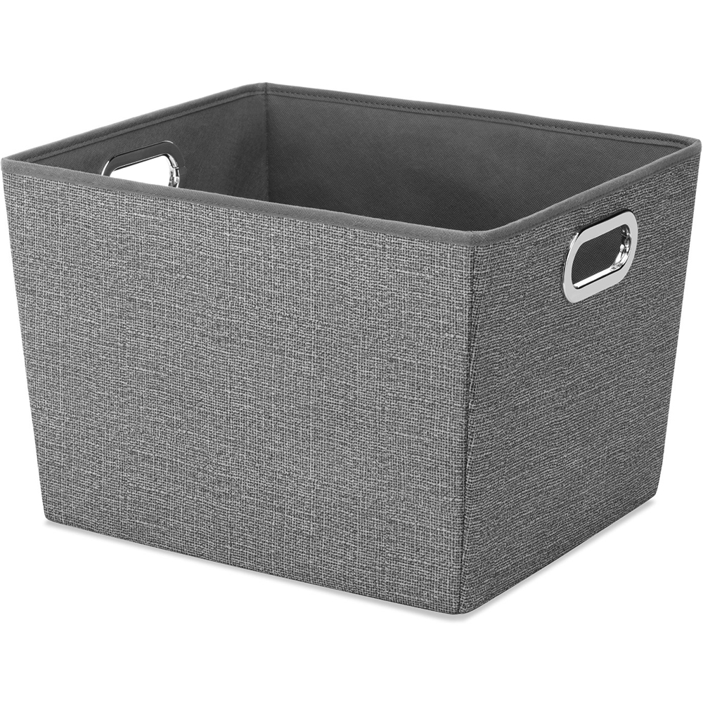 fabric storage bin in shelf bins