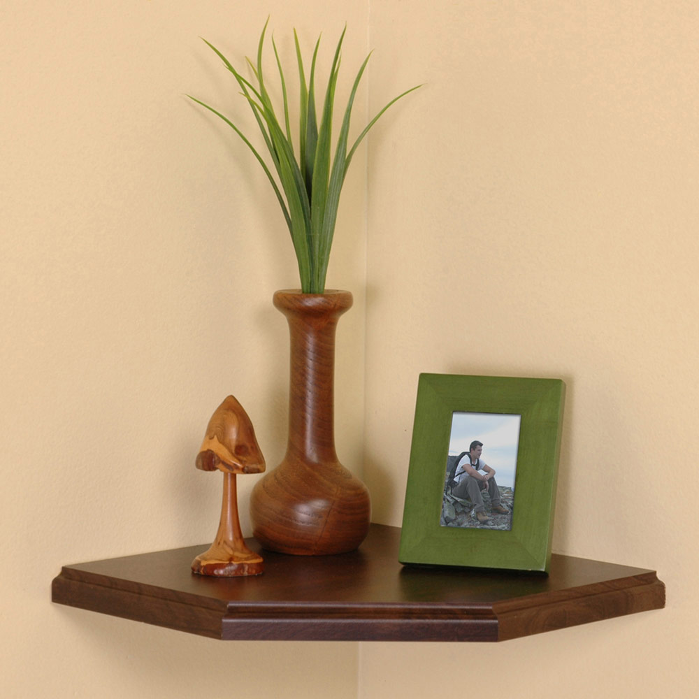 Floating Corner Wall Shelf 9 5 Inch In Wall Mounted Shelves