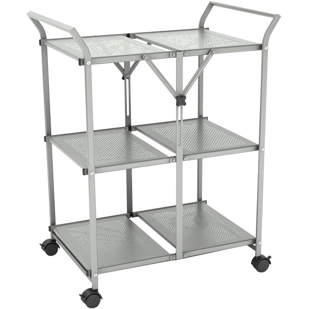 Folding kitchen cart lookup beforebuying for Collapsible kitchen cart