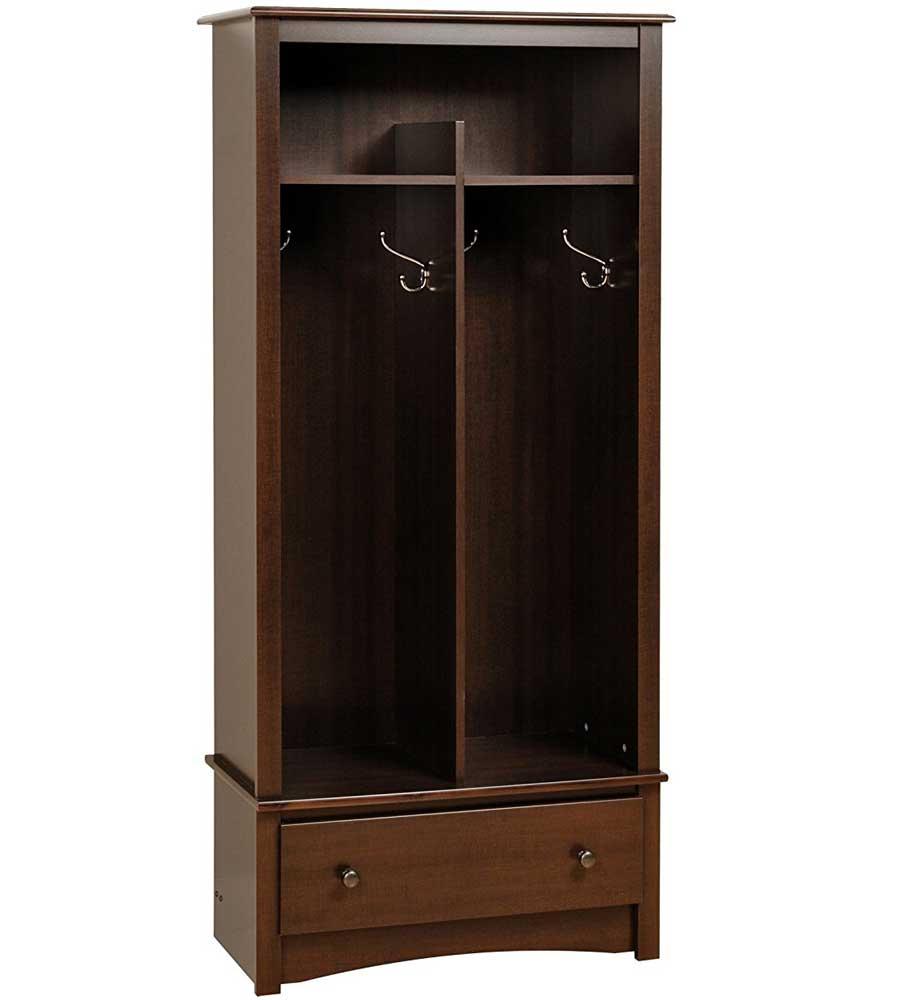 Mudroom Organizers Storage : Free standing entryway organizer in storage