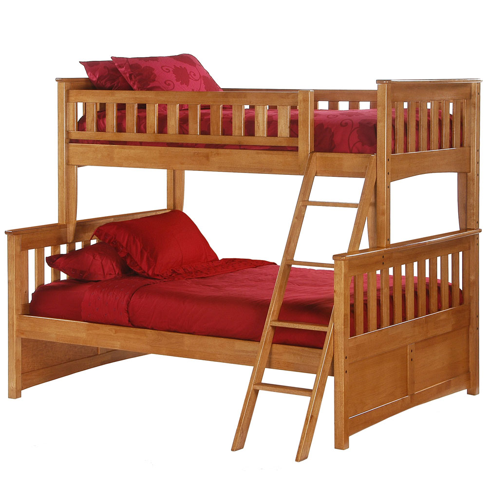 Oak Bunk Beds Twin Over Twin