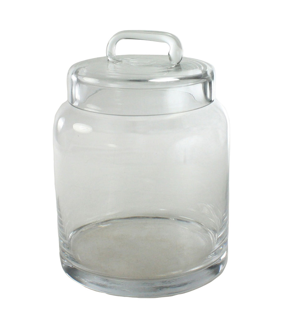 glass food canister in kitchen canisters
