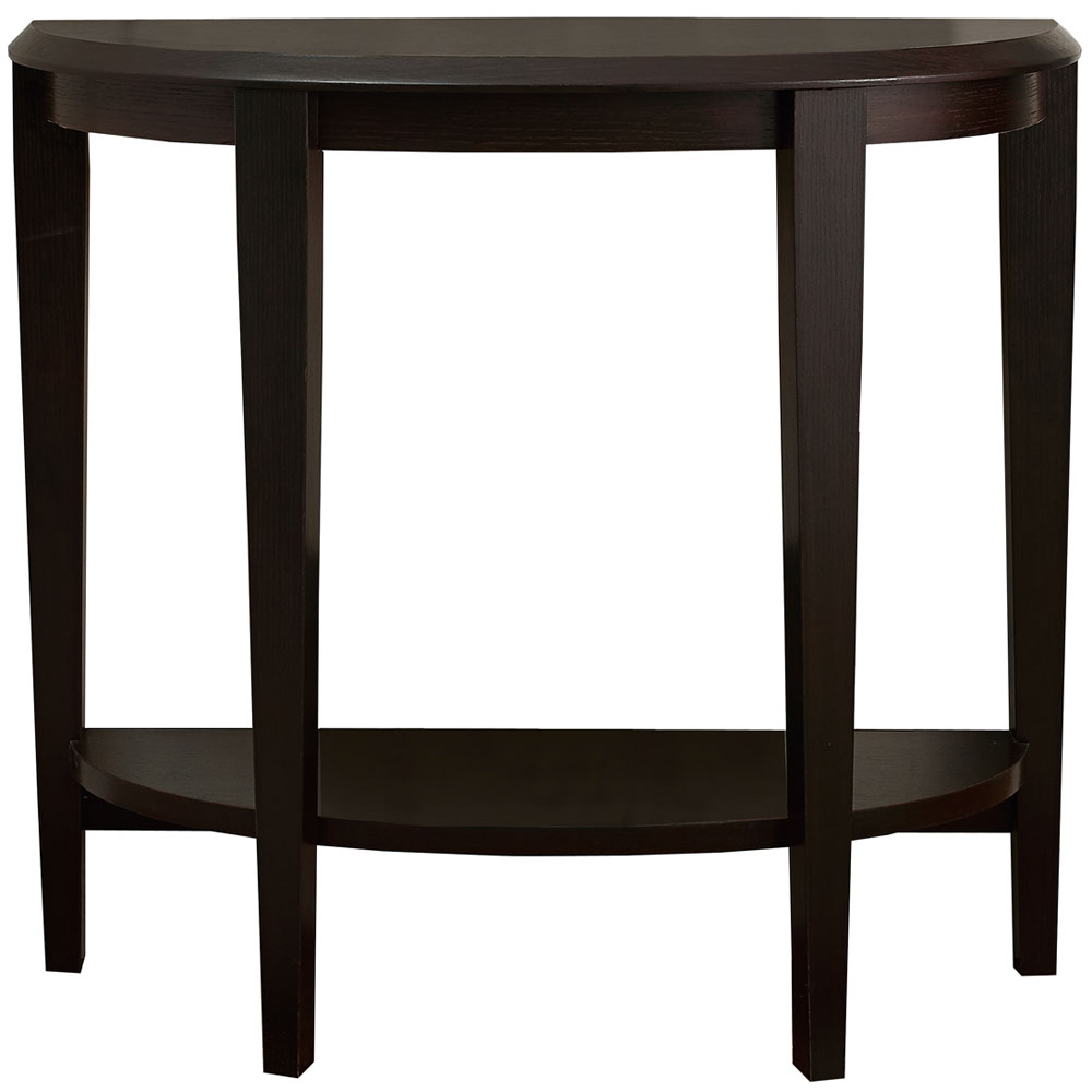 Half moon accent table in accent tables for Accent furnitureable