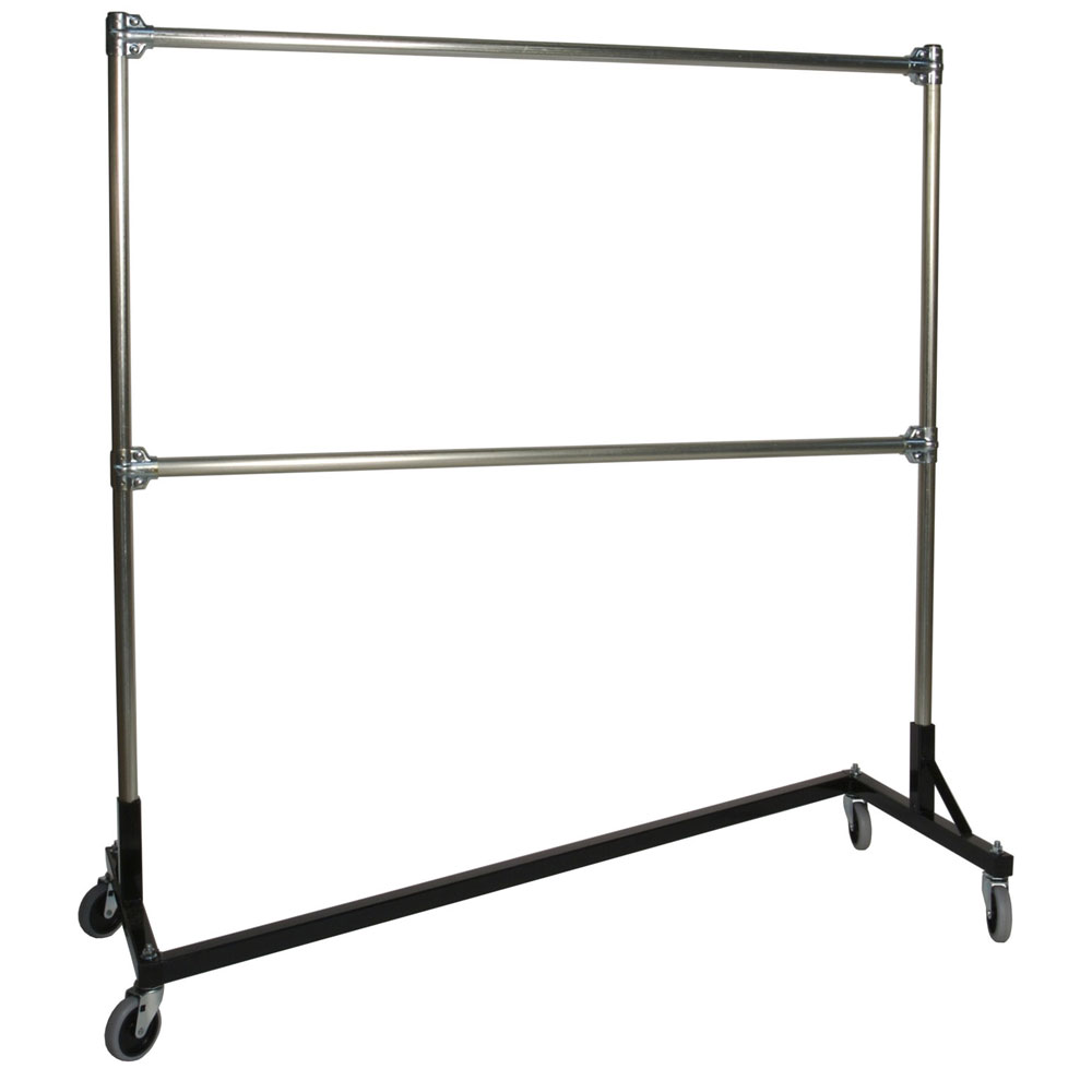 Heavy Duty Portable Clothes Rack - 5ft Double Rail in Clothing Racks and  Wardrobes