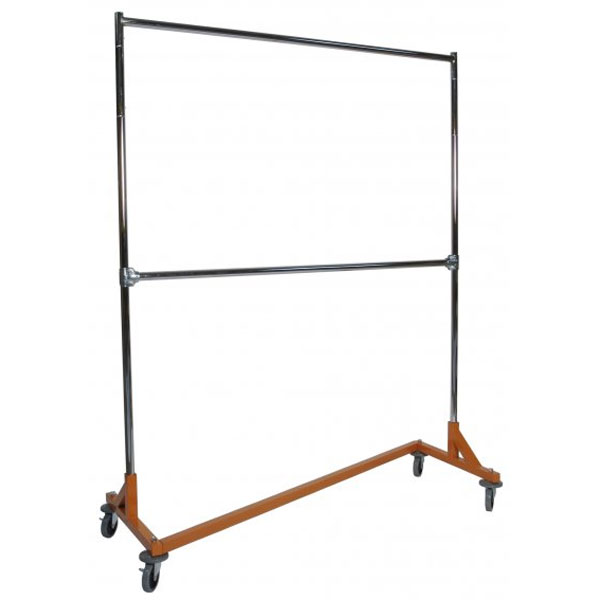 heavy duty portable clothes rack 5ft double rail in clothing racks and wardrobes - Portable Clothes Rack