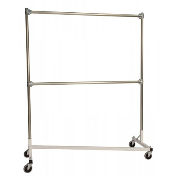 Heavy Duty Portable Clothes Rack 5ft Double Rail In