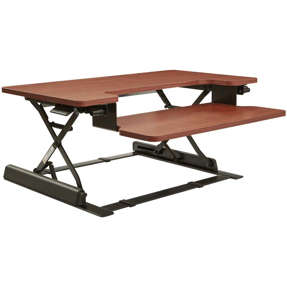 Height Adjustable Desk Riser In Desks And Hutches