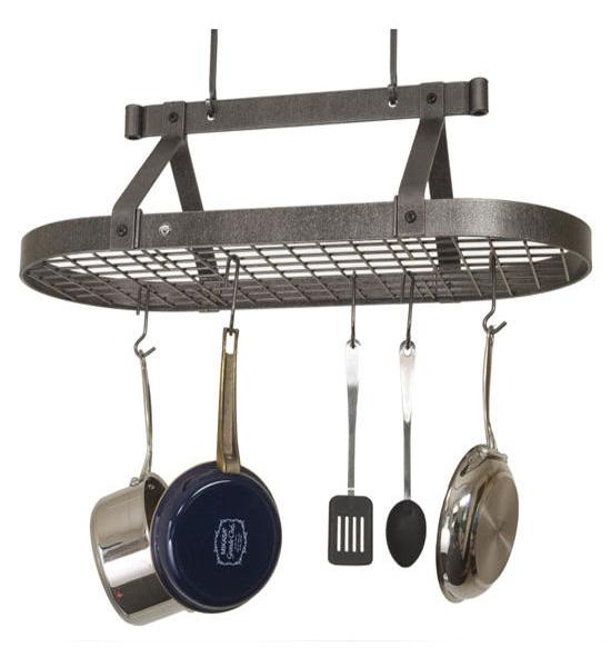 3 Foot Oval Hanging Pot Rack in Hanging Pot Racks