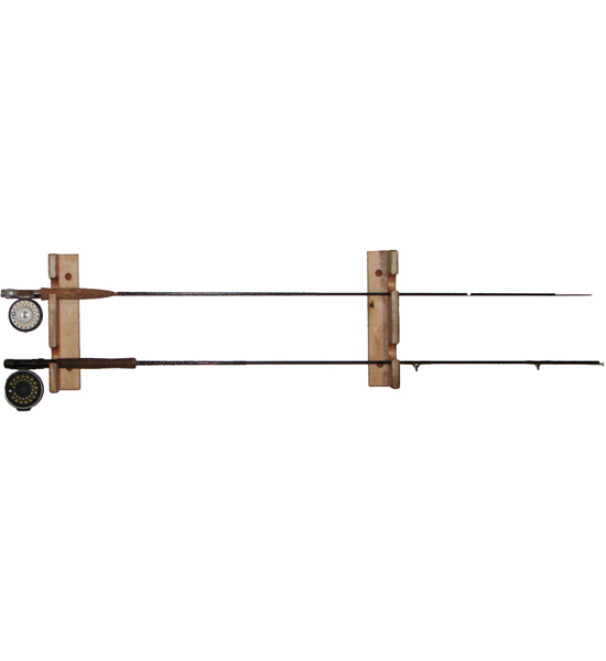 Horizontal fishing rod storage rack in sports equipment for Horizontal fishing rod rack