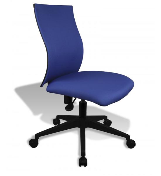 Simple Ergo Curve Office Chair No Armrests In Armless Office Chairs