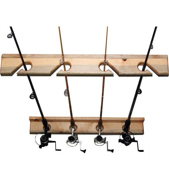 Vertical fishing rod storage rack in sports equipment for Expensive fishing poles