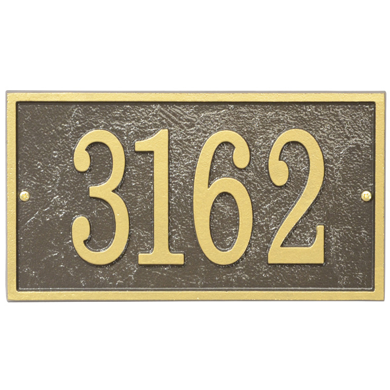 Home Address Plaque - Rectangle - Fast and Easy in House Number ...