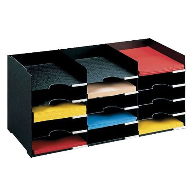 Horizontal Desk Organizer 15 Compartments In File And Mail Organizers
