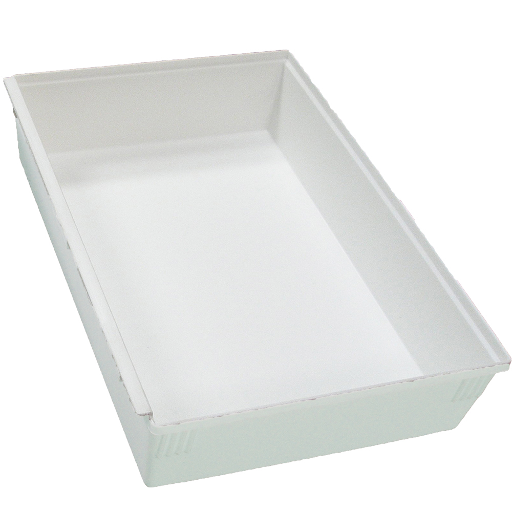 Interlocking Plastic Bins White In Drawer Bins
