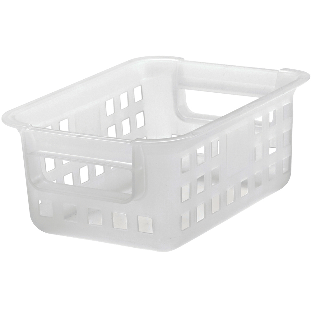 Iris Plastic Mesh Storage Baskets Clear In Plastic Baskets