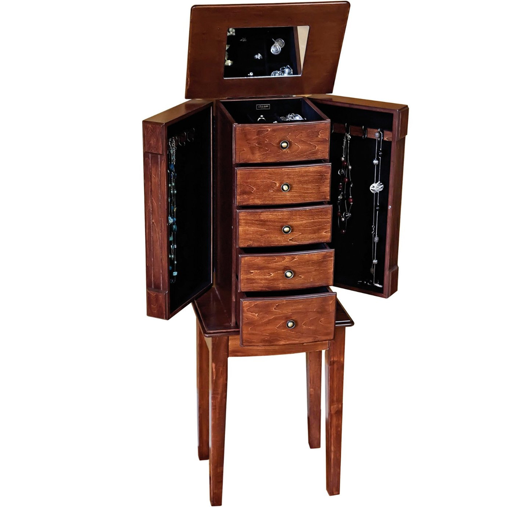 jewelry box armoire in jewelry armoires. Black Bedroom Furniture Sets. Home Design Ideas