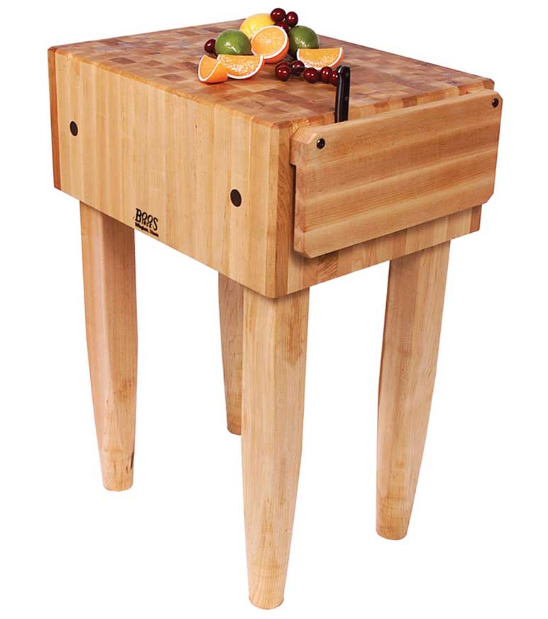 John Boos Butcher Block Table in Kitchen Island Carts