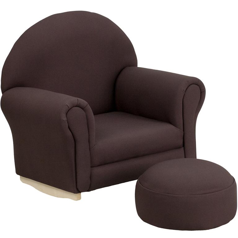 Kids Rocker Chair Footrest in Kids Lounge Chairs