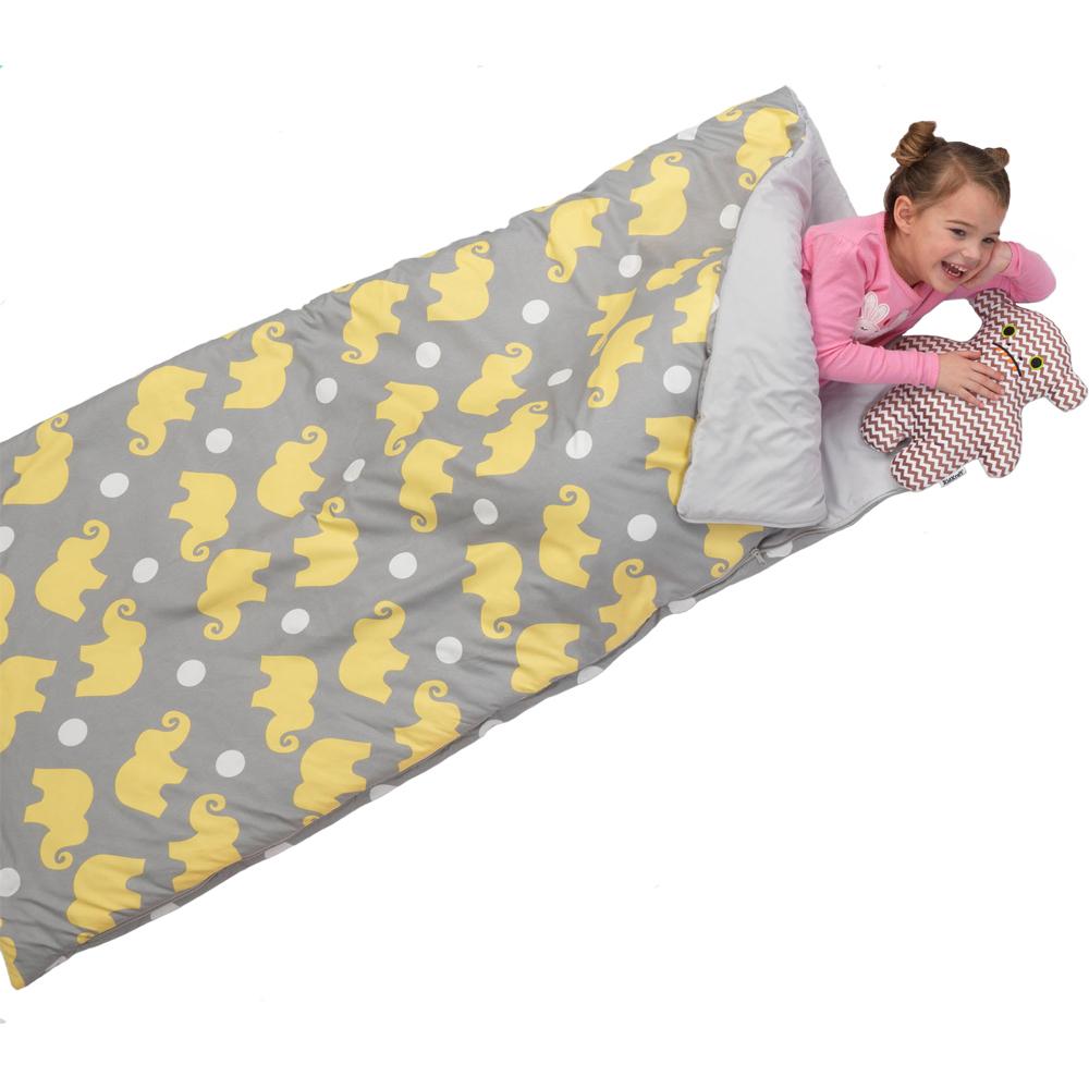 sleeping bag in bunk beds